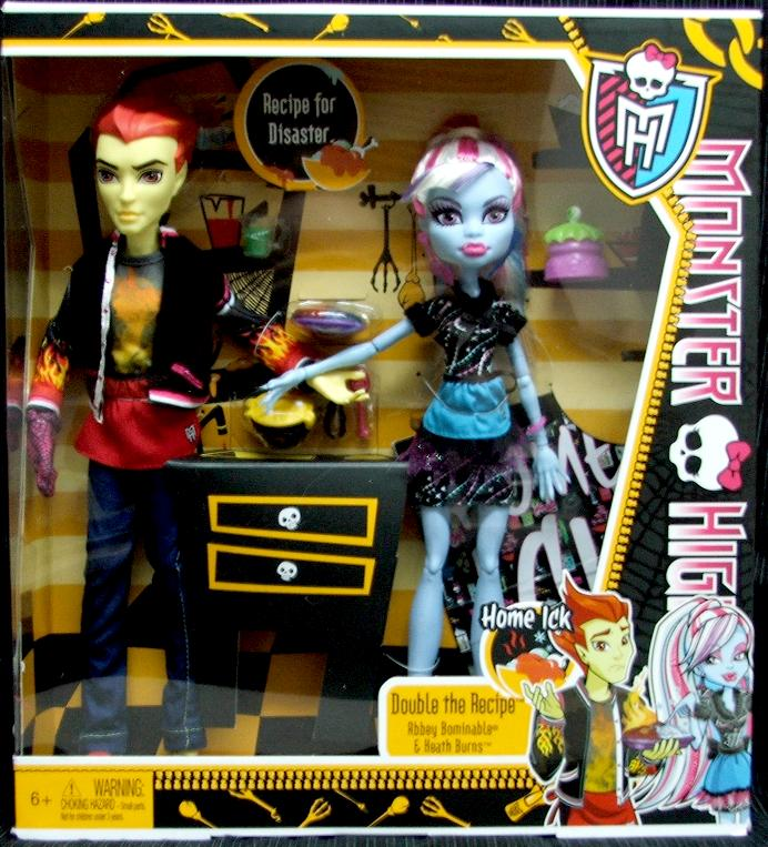 new monster high heath burns and abbey bominable home ick